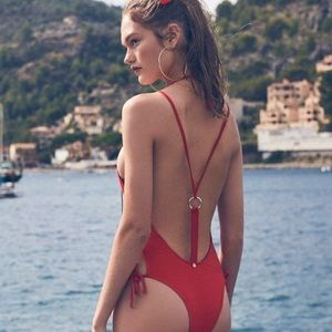 BNWOT For Love and Lemons Red One Piece M
